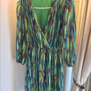 Dresses & Skirts - NWOT Colorful chiffon dress.